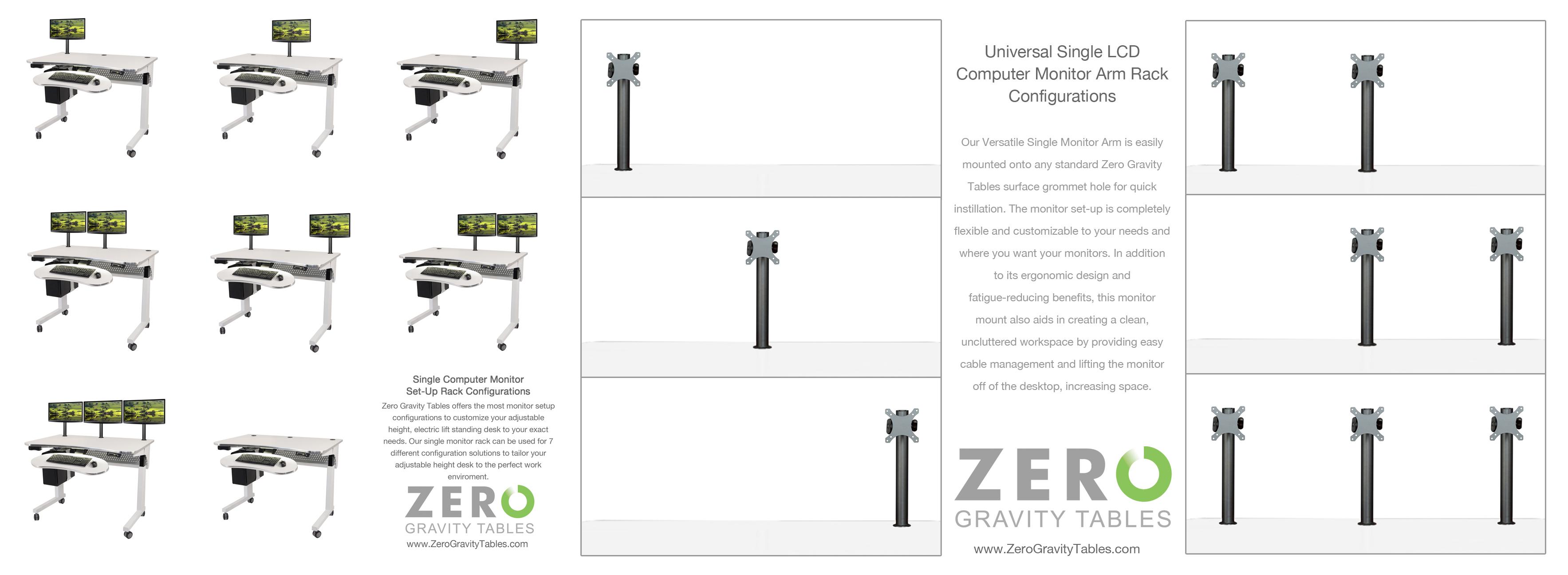 - Multiple Computer Monitor Setup For Height Adjustable Standing Desk